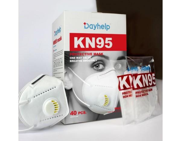 FFP2 NK 95 Kasvosuojain uloshengitysventtiilillä