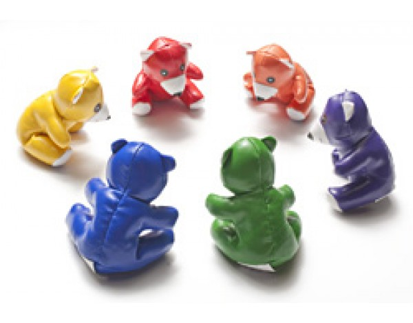 Värikkäät Karhu eläinhahmot kuuden (6) sarjana
