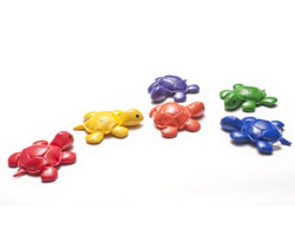 Värikkäät Kilpikonnat eläinhahmot kuuden (6) sarja
